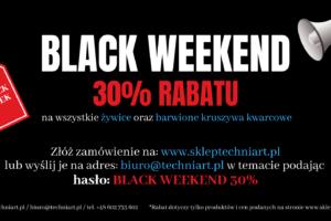 30% rabatu!!! Black Weekend  www.skleptechniart.pl
